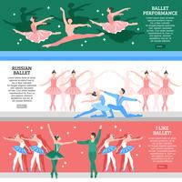 Ballet platte Banners Set