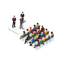 Partij vergadering isometrisch ontwerpconcept