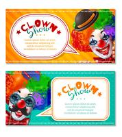 Circus Clown Show 2 Horizontal Banners