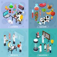 Genetics 2x2 Design Concept vector