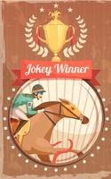 Jockey Winner Vintage Poster