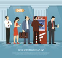 platt atm pengar illustration