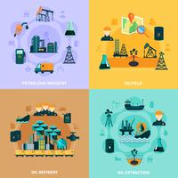 Concepto de diseño de infraestructura petrolera