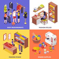 Fashion Atelier 2x2 Design Concept vector