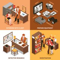 Sleuth Isometric Design Concept vector