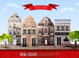 Affiche de vieilles maisons européennes
