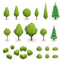 Park Plants Isometric Set