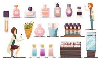 Perfume Shop Icon Set