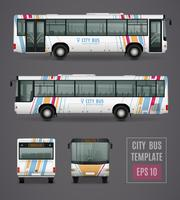 City Bus Template In Realistic Style