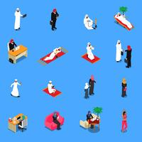 Arabische Personen isometrische Set