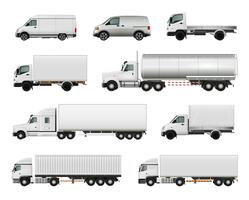 Realistic Cargo Vehicles Set