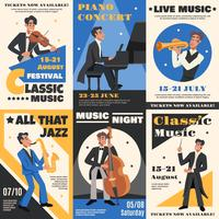 Set di banner di musicista
