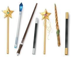 Conjunto realista de varita mágica
