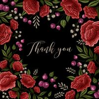 Floral Embroidery Frame Background Design vector