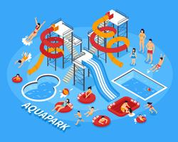 Water Park Illustration