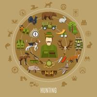Hunting Concept Illustration