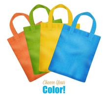 Colorful Canvas Tote Bags Collection Advertisement vector