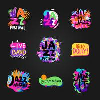 Jazz Blackboard Set vector