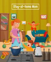 Motherhood Tired Mother Poster