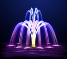 Ljus Night Fountain Realistic Illustration
