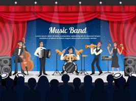 illustrazione di musicista dei cartoni animati