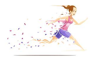 kvinna runner metafan koncept