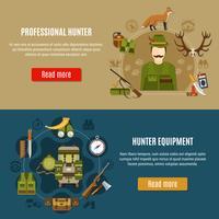 Hunting Equipment Banners Set