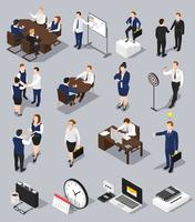 Isometric Business Meettings Set