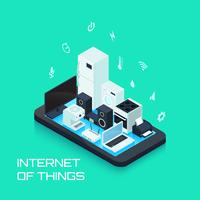Internet Of Things Design Composition With Smartphone