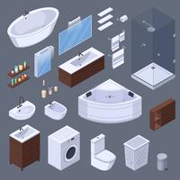 Bathroom Elements Isometric Collection