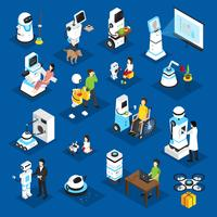Robots Isometric Set