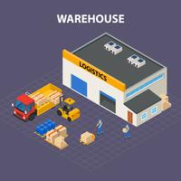 Warehouse Outside Isometric Design Concept