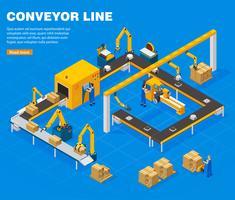 Concepto de línea transportadora vector