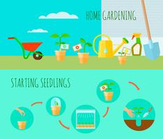 Seedling Horizontal Banners Set
