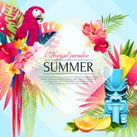 Summer Tropical Paradise Background vector