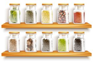 Herbs Spices Set Composition