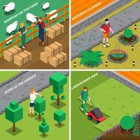 Arbeiten an Konzept des Bauernhof-2x2