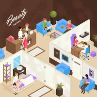 Beauty Salon Isometric Design Concept