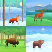 Animals Background Set vector