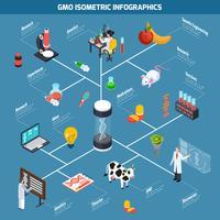 Infografica isometrica OGM