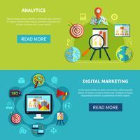 Set di banner di analisi digitale