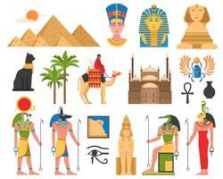 Colección plana de arte egipcio