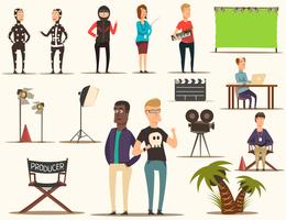 Movie Making Elements Set vector