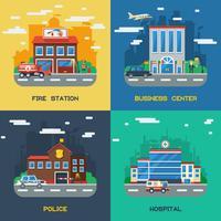 Conceito de Design Plano do Governo Construções 2x2