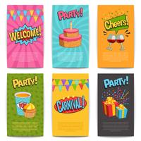 Party Comic Posters vector