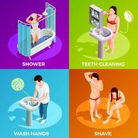 Concetto di design isometrico di igiene
