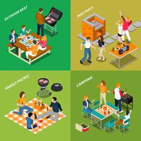 BBQ Isometric Compositions