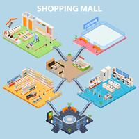 Isometric Plaza Interior Concept vector