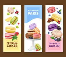 Macaroons Vertical Banners Set