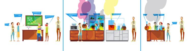 Students In Chemical Lab Comics